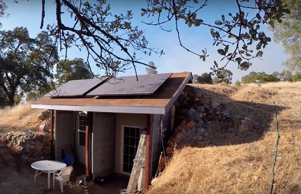 Earth-cooled, Shipping Container Underground California Home for $30K