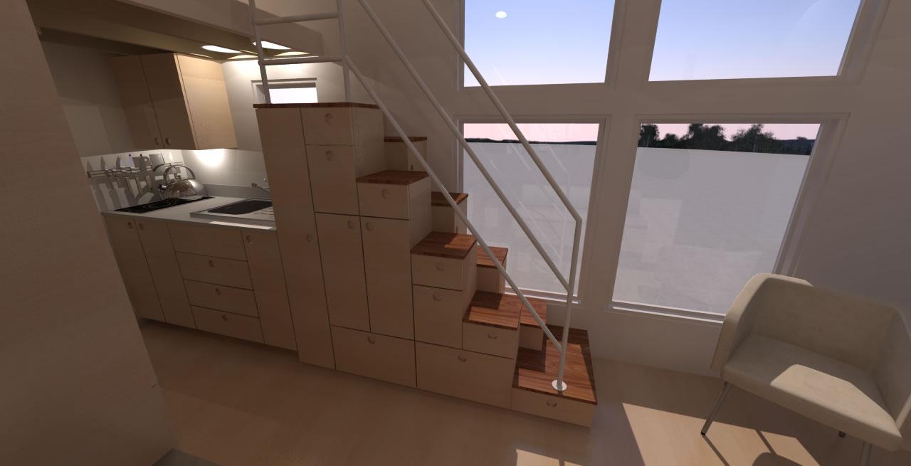 Navarro 20 - Interior Step Tansu Stairs Detail