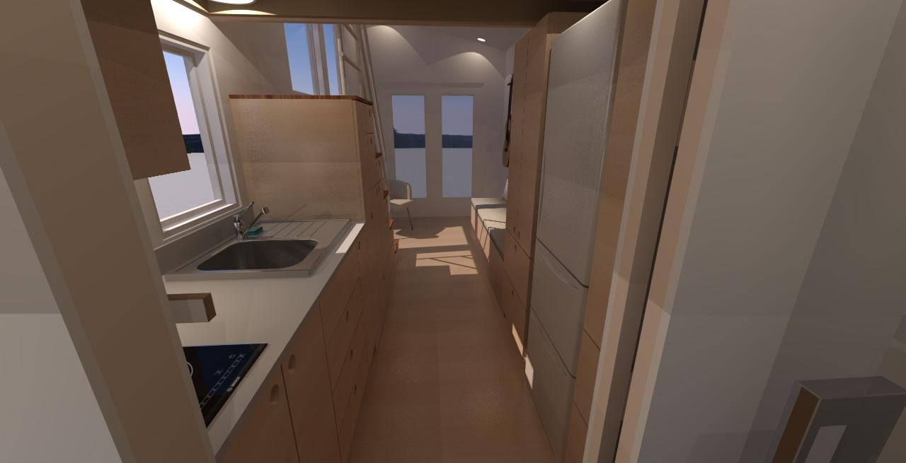 Navarro 20 - Interior view from kitchen