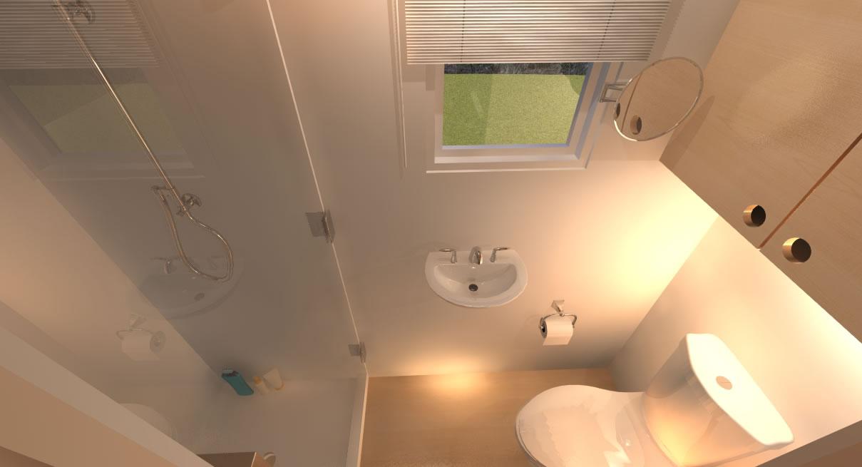Potter Valley Tiny House Bathroom