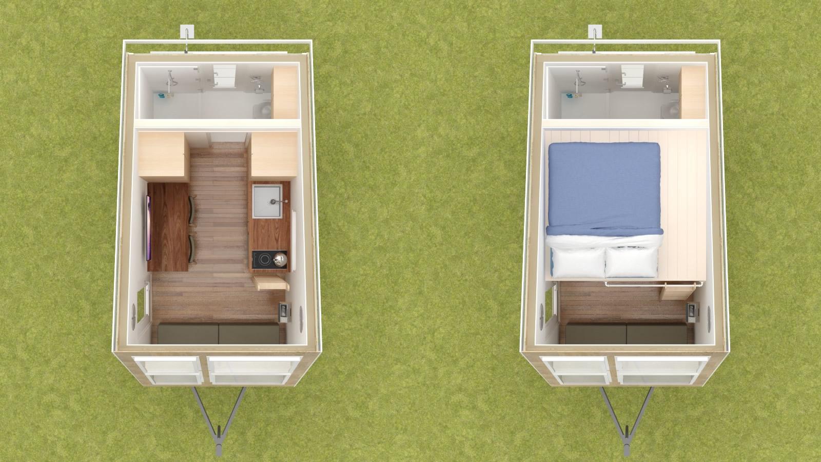 Anchor Bay 16 Tiny House Floor Plans
