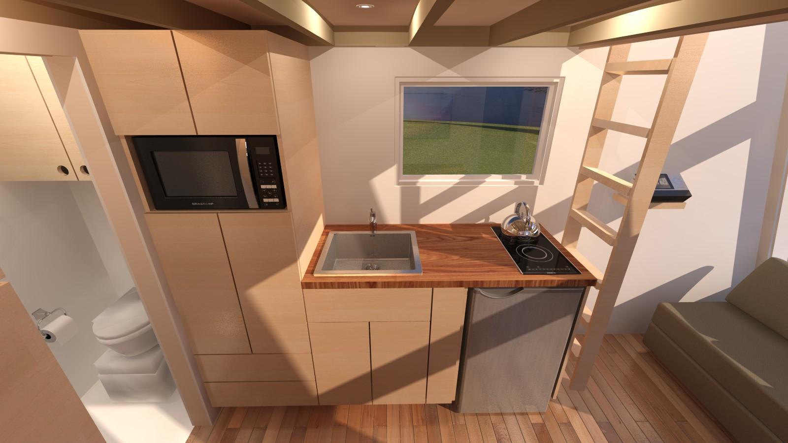 Anchor Bay 16 Tiny House - Kitchen