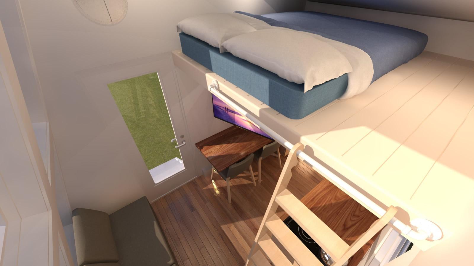 Anchor Bay 16 Tiny House - Loft