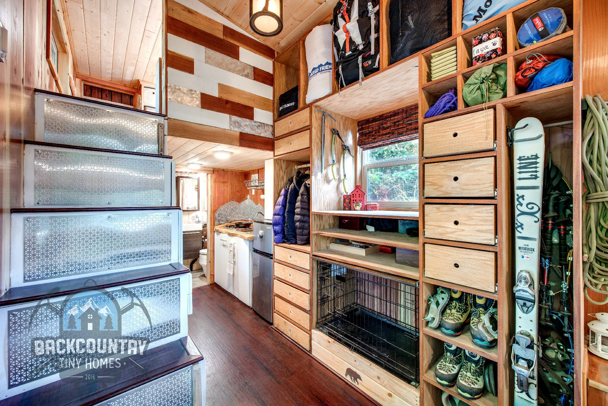 Backcountry Basecamp Tiny House ample storage
