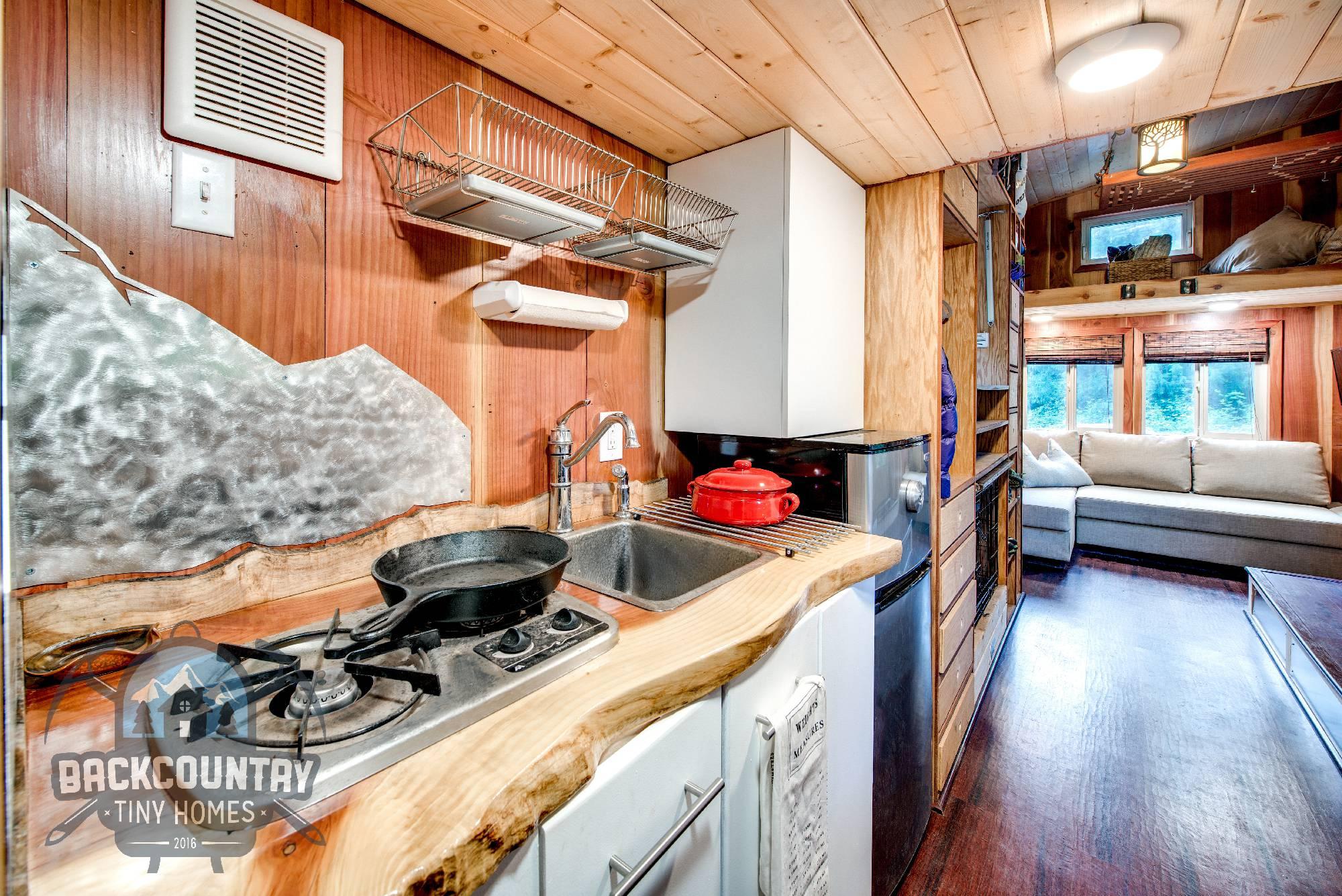 Backcountry Basecamp Tiny House kitchen 2