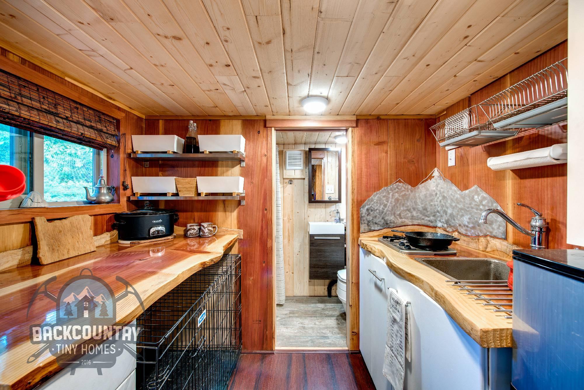 Backcountry Basecamp Tiny House kitchen