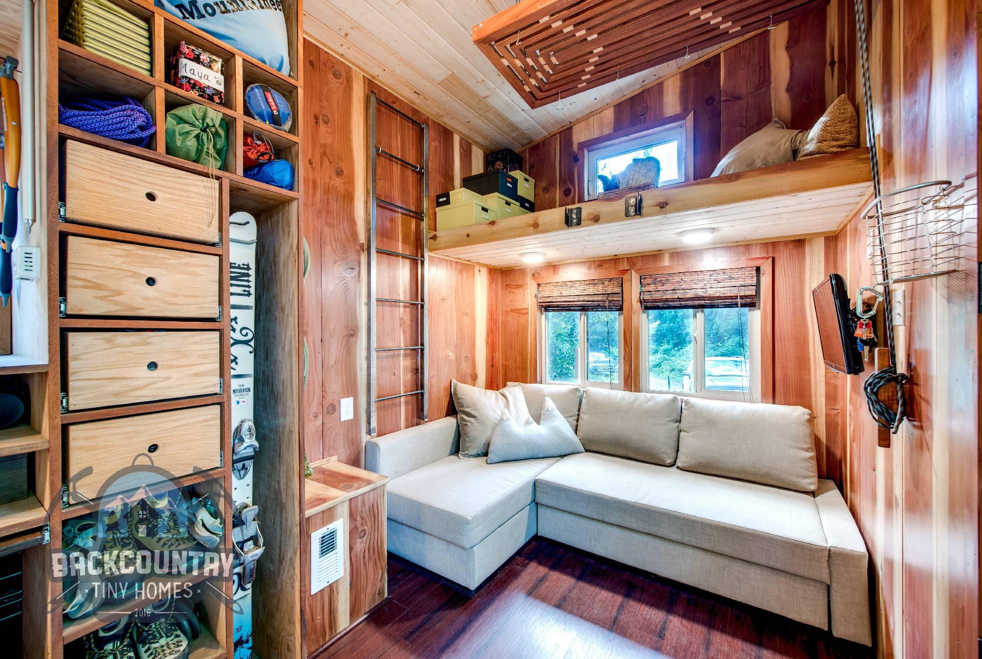 Backcountry Basecamp Tiny House living room
