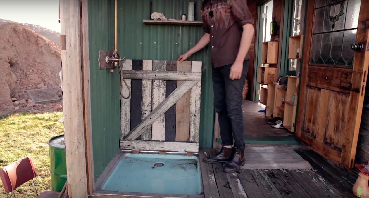 Handmade House Truck - Hidden Shower Pan