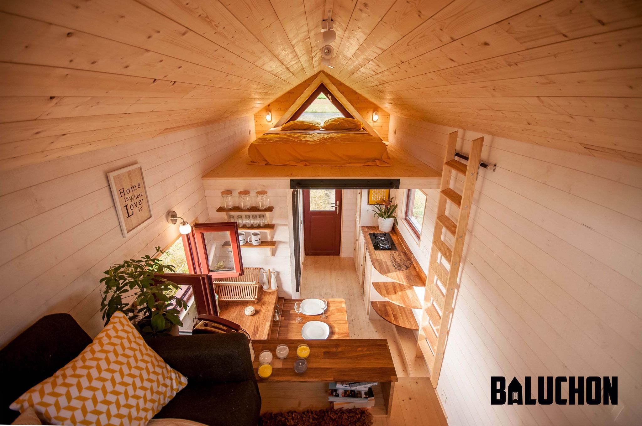 L'Odyssée - French Tiny House Interior 2 lofts