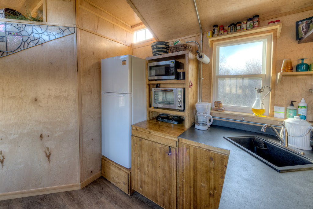 Lewis and Clarks Tiny House in Montana - Kitchen Detail