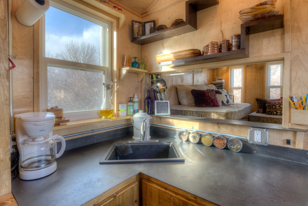 Lewis and Clarks Tiny House in Montana - Kitchen Sink