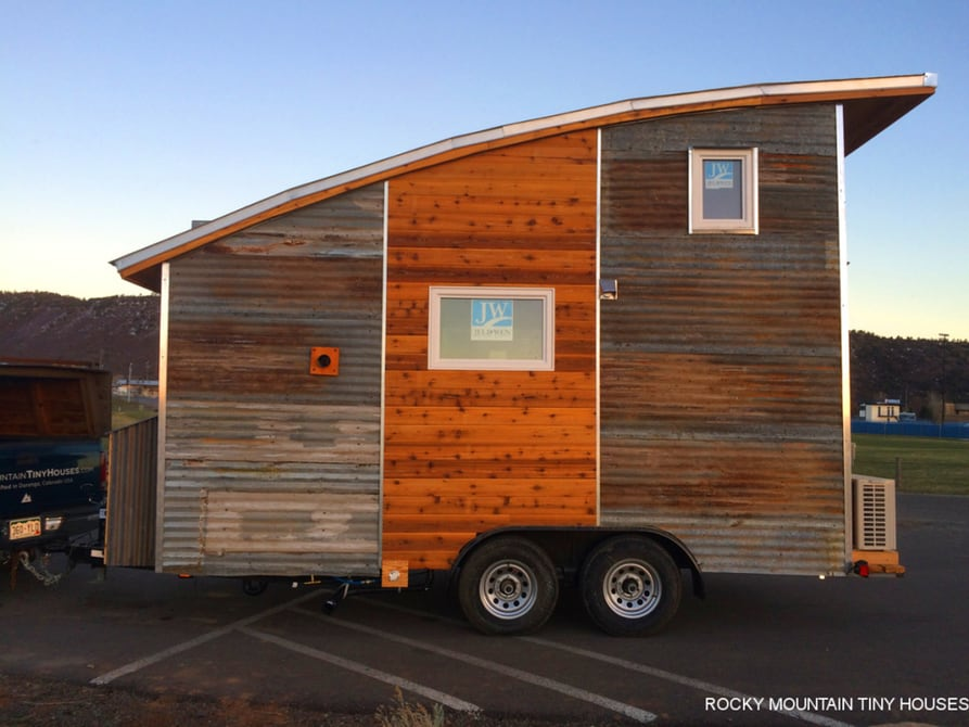 Tiny Home Designs: Arched Roof Tiny House By Rocky Mountain Tiny Houses