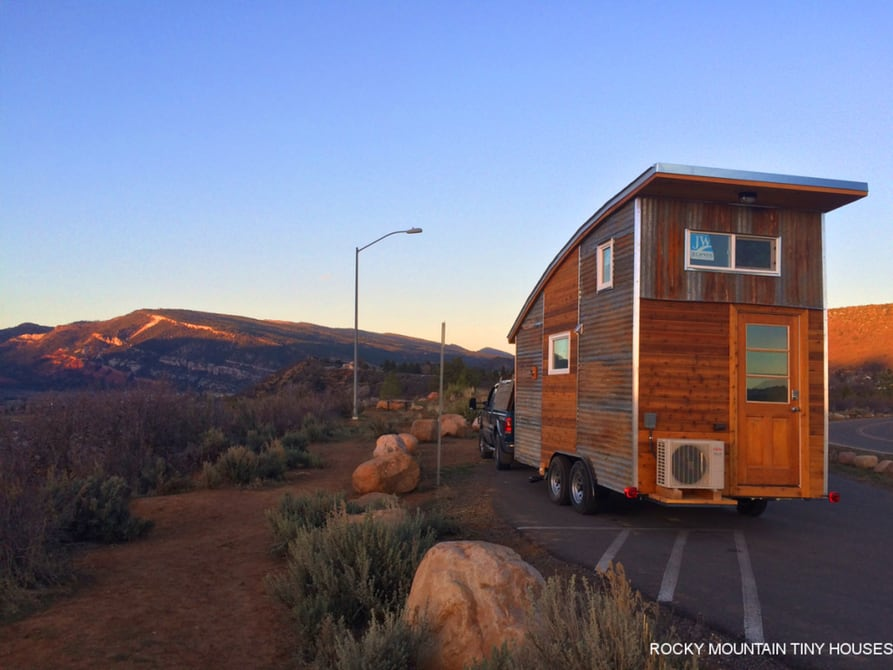 Rocky Mountain Tiny Houses - Curved Roof on the Road