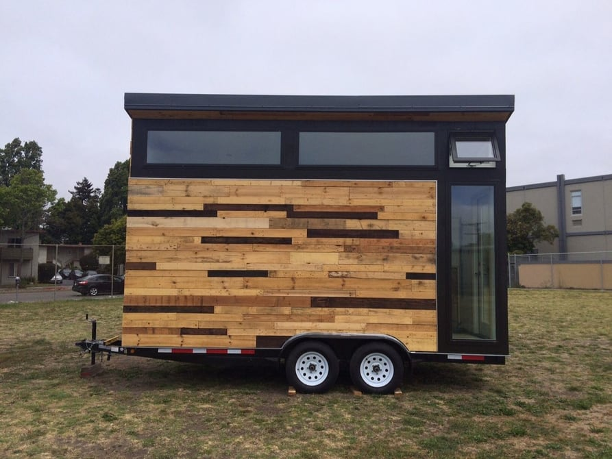 Students create solar-powered tiny house side