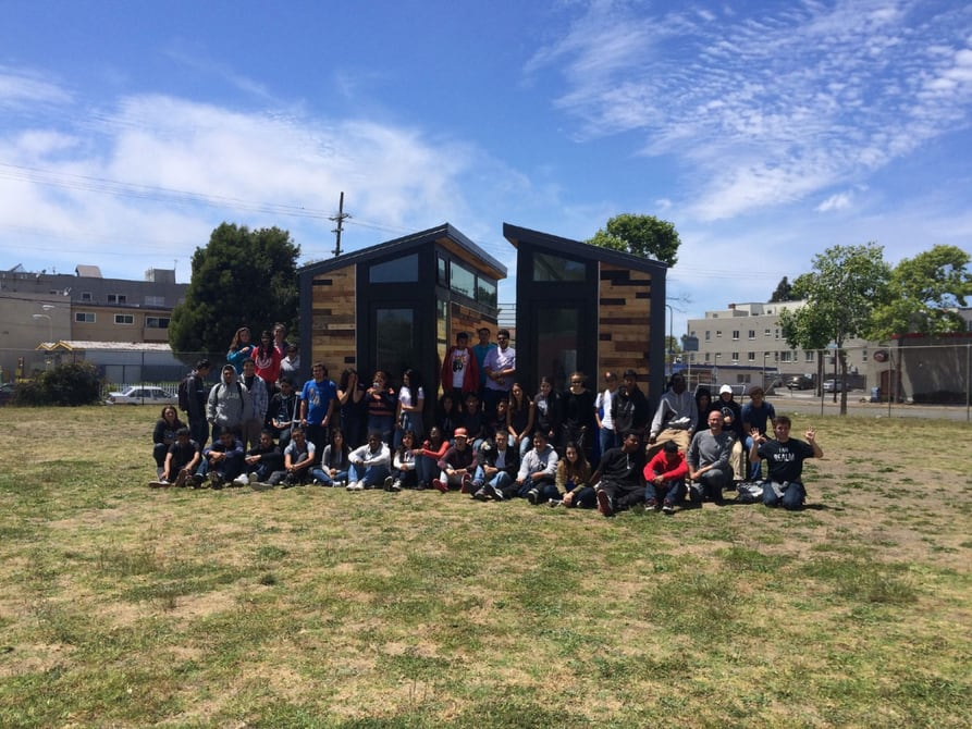 Students create solar-powered tiny houses