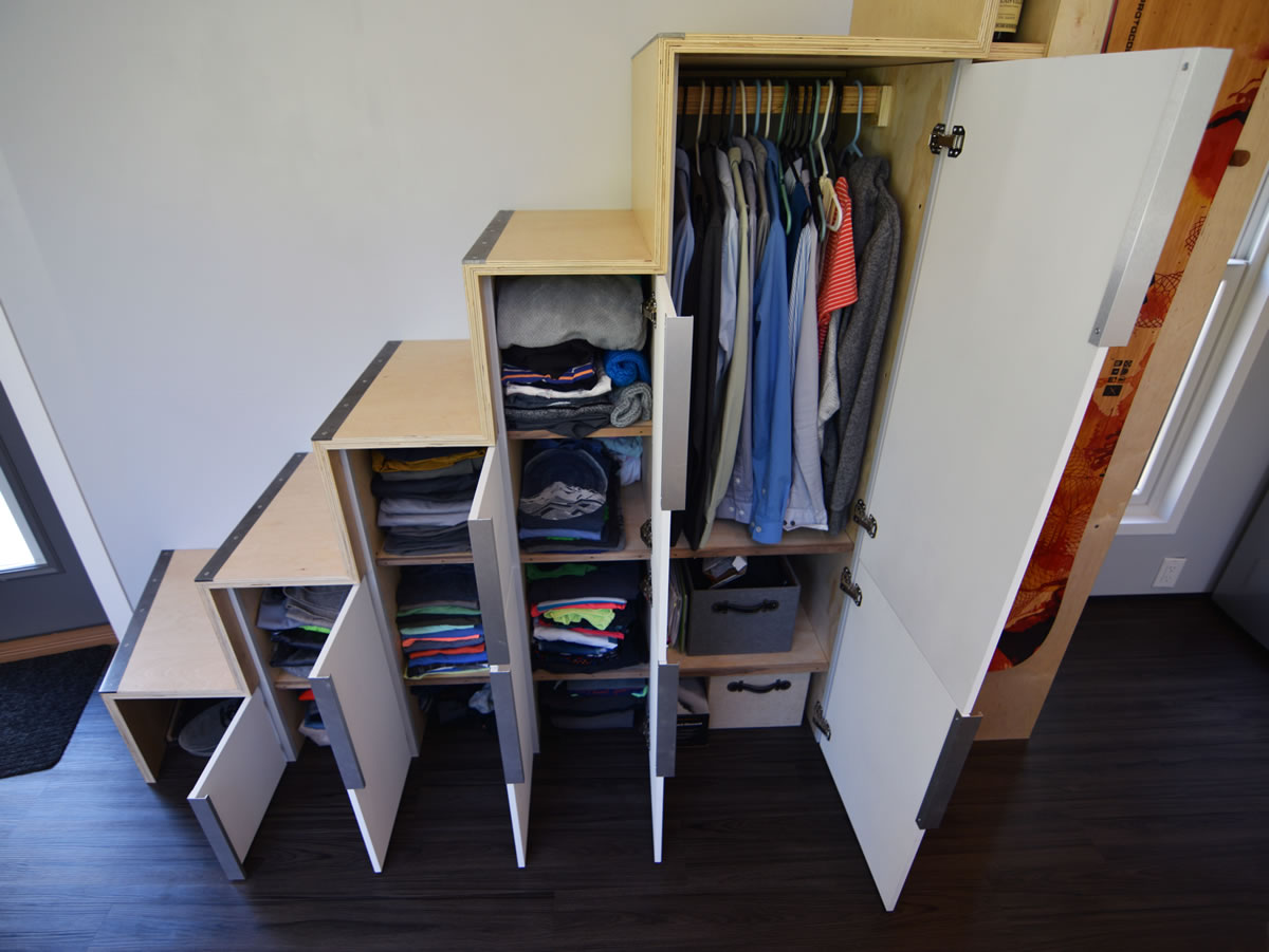 shedsistence stairs closet