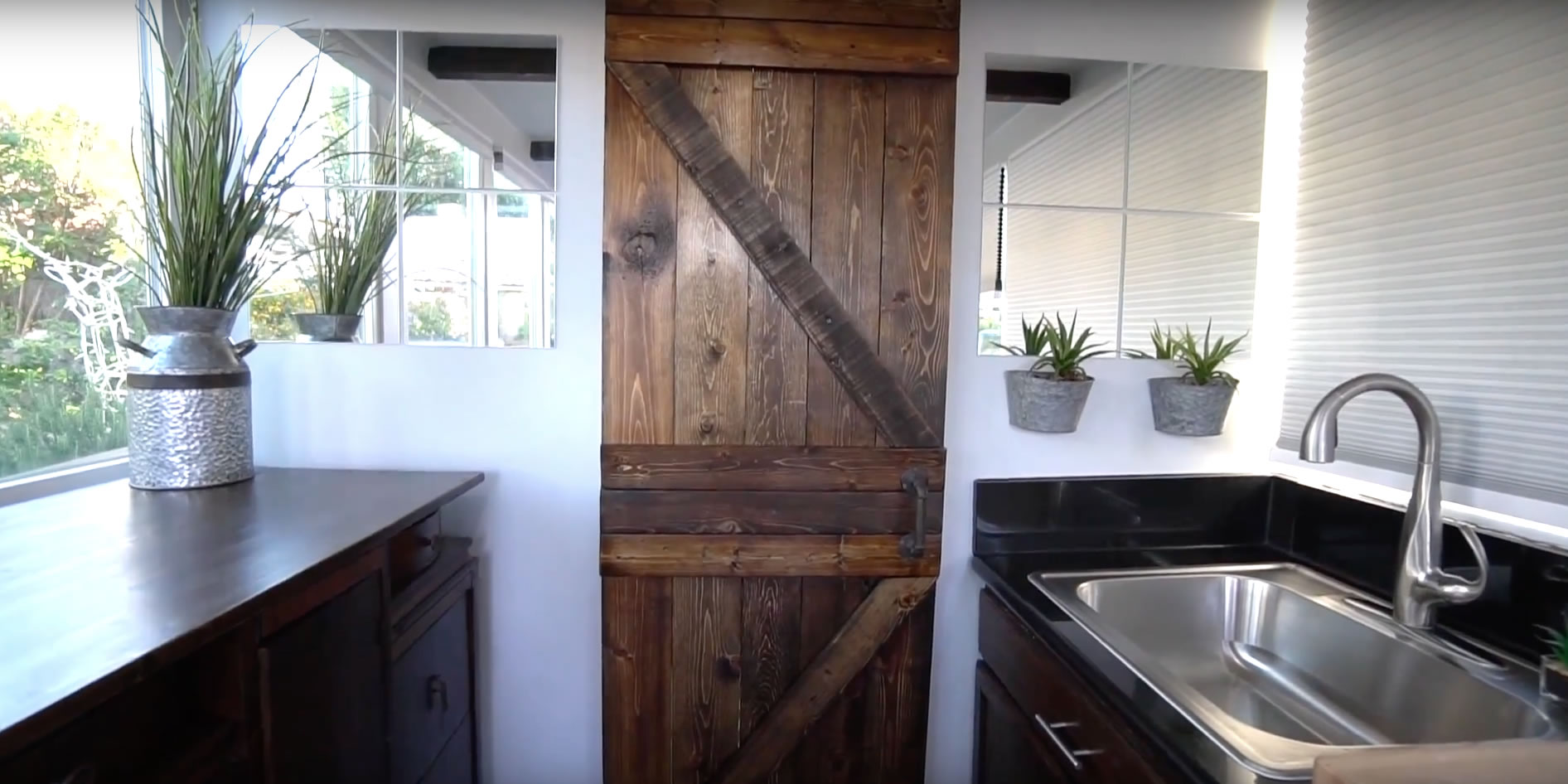 Barn Door - Alternative Living Spaces Container Home