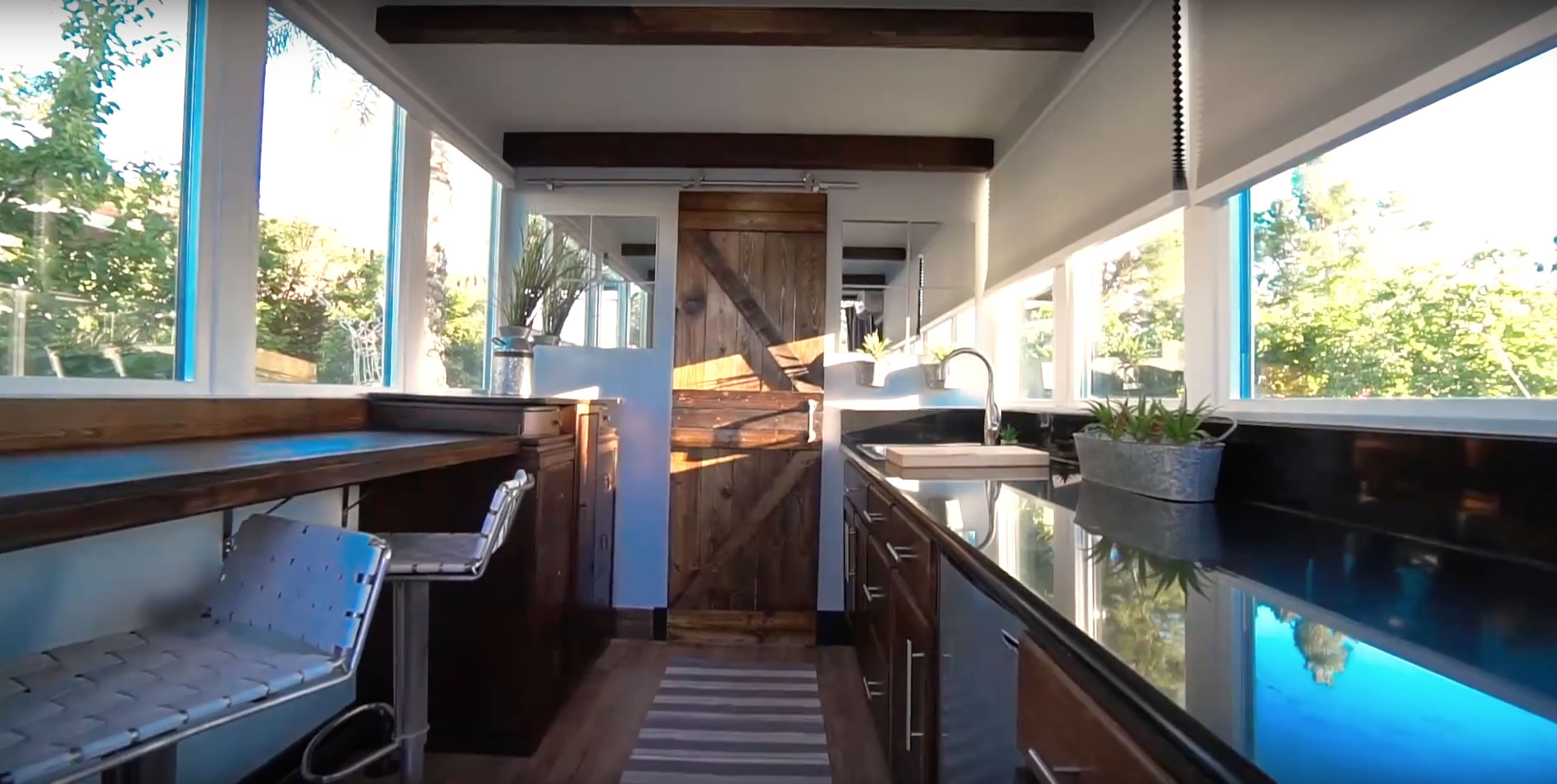 Kitchen and Living- Alternative Living Spaces Container Home