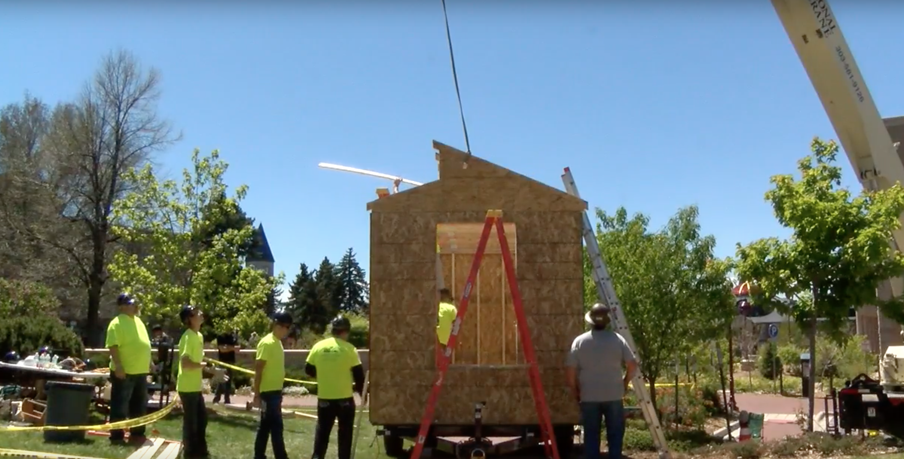University of Denver Students Speed Build a Tiny House for the Homeless