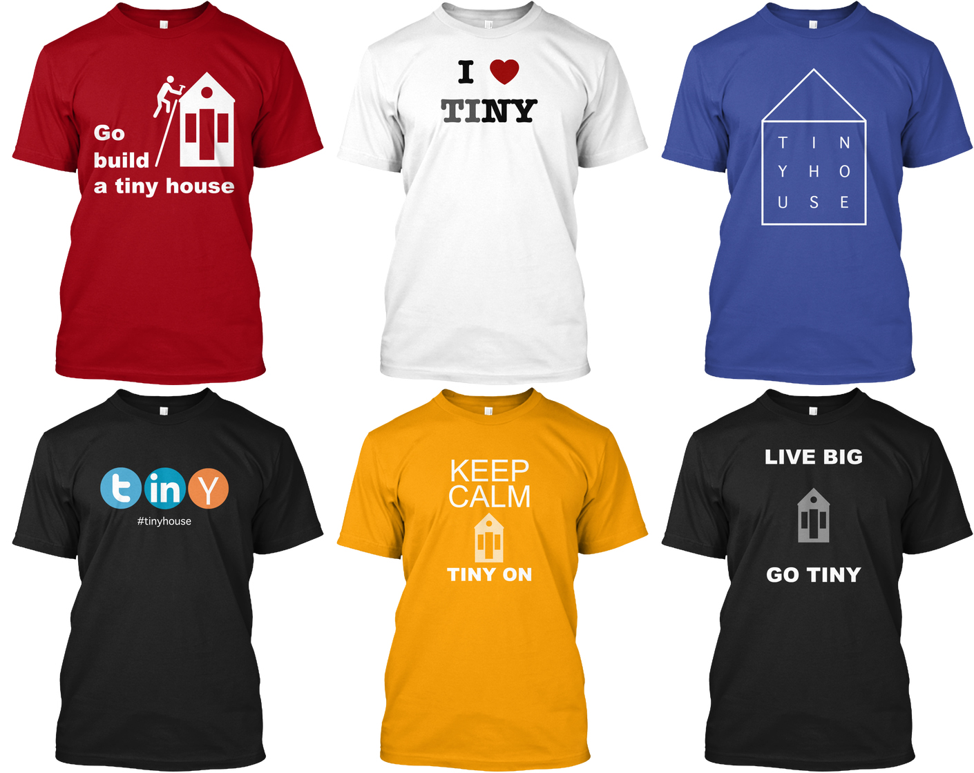 tiny house tshirts just for fun