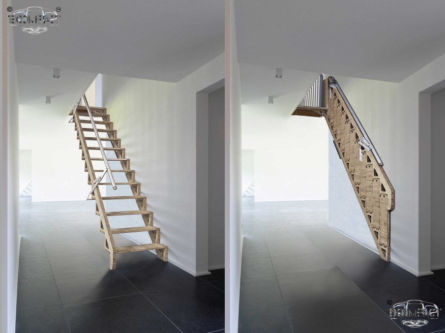 Bcompact Hybrid Stairs Tiny House Design