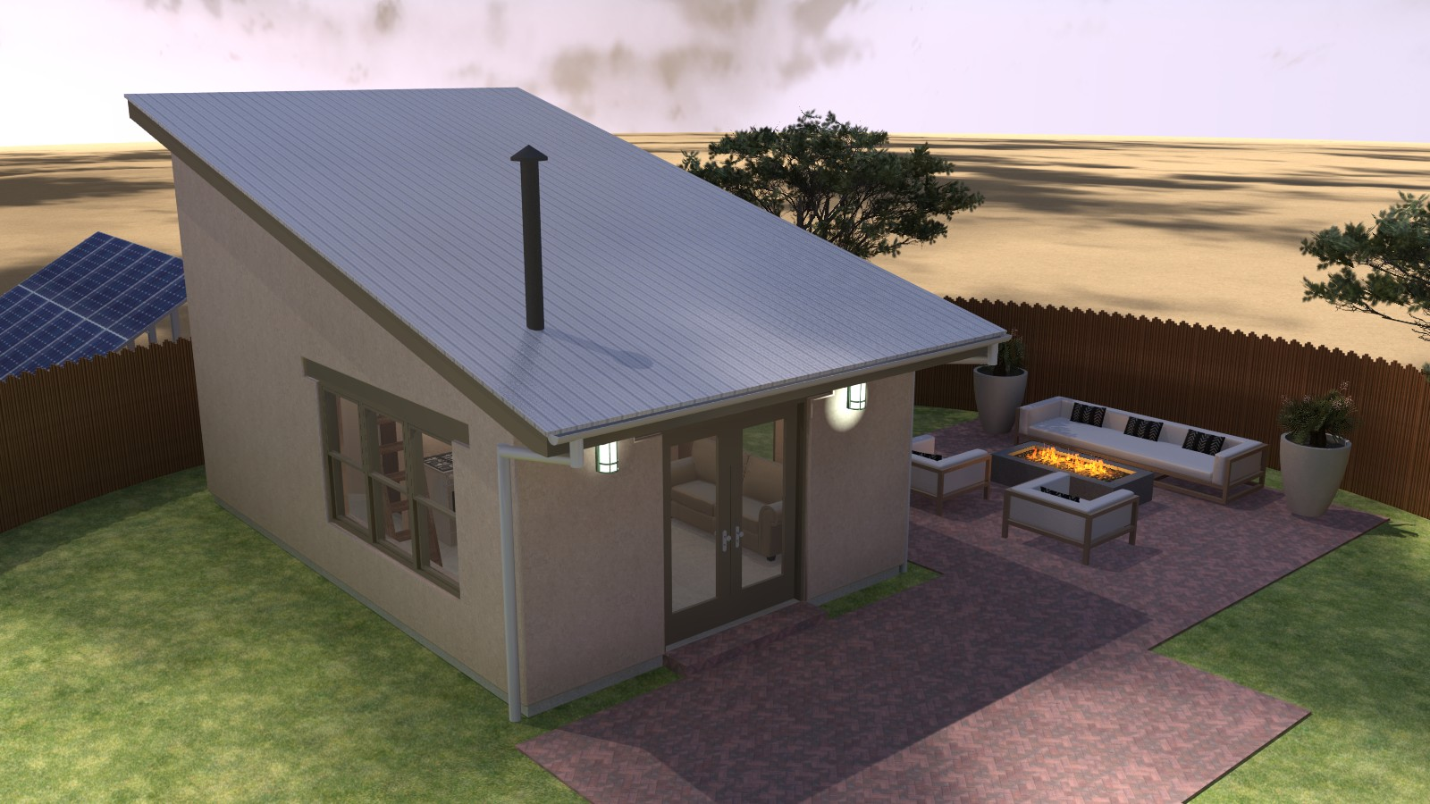 Taos Mesa Day Dream #3 – Micro Adobe Home
