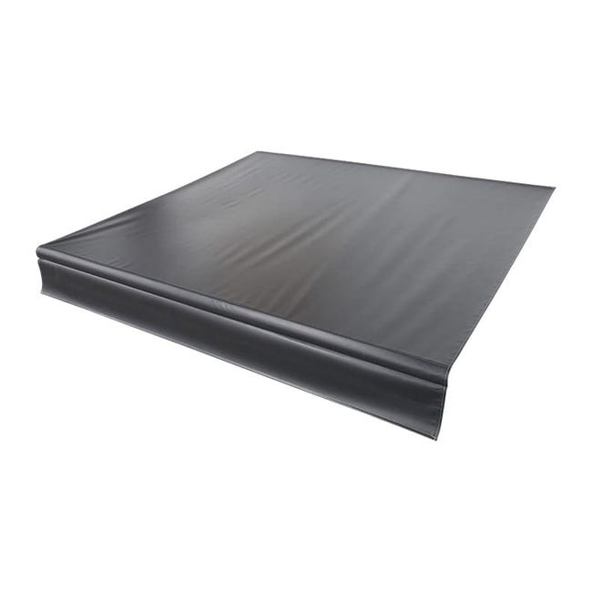 Universal Vinyl Fabric for 16' Patio Awning - Solid Black